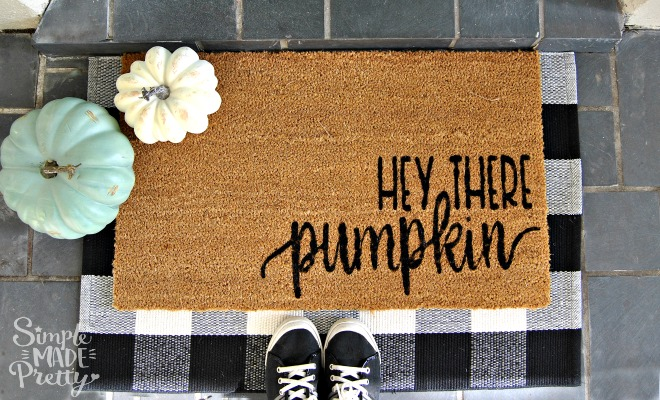 I Love This Fall Doormat Diy Is A Cute Welcome Sign For Front