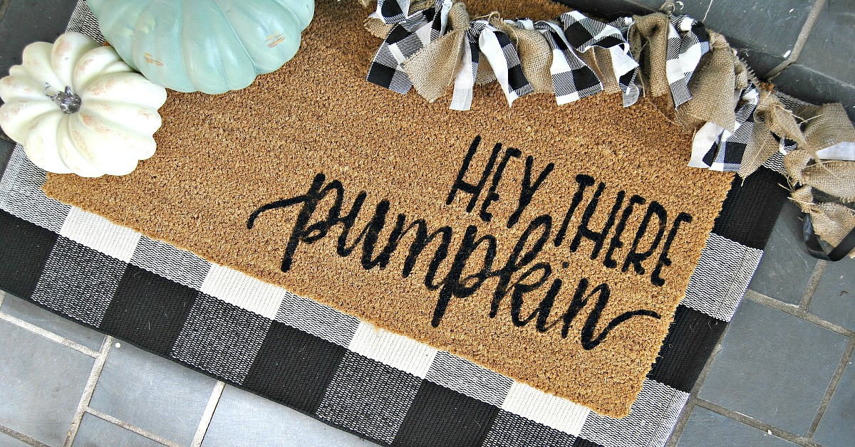 Fall Welcome Door Mat With Free Svg File 2019