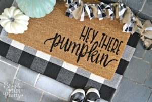 Fall Welcome Door Mat With Free SVG File