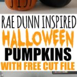 If you are Rae Dunn obsessed and addicted to Rae Dunn Halloween, read this post on how to make your own DIY Rae Dunn Halloween Pumpkins! Rae Dunn Halloween, Rae Dunn Halloween Decal, Rae Dunn Halloween Inspired, Rae Dunn Halloween Boo, Rae Dunn Halloween 2018, Rae Dunn Halloween Decor, Circut Halloween Projects, Cricut Halloween Decorations, Cricut Halloween Pumpkins, SVG free files for Cricut #Halloweencraftsdiydecorations #halloween #halloweendecorations #halloweencrafts #raedunn