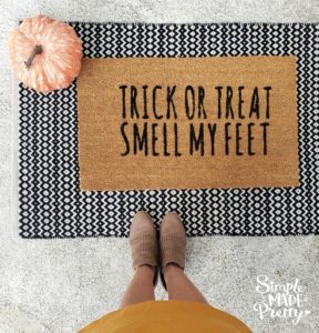 Halloween Doormat DIY With Free SVG File