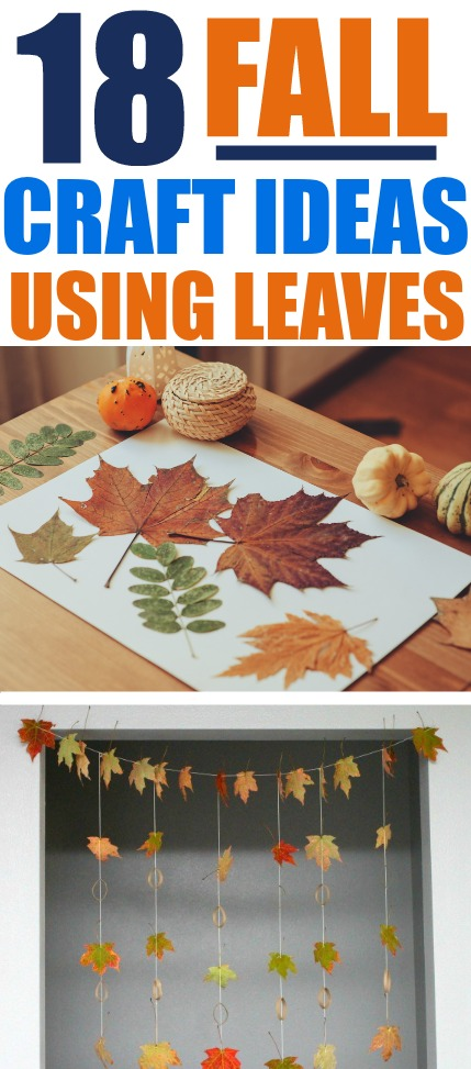 18 Ideas For Fall Crafts With Leaves Simple Made Pretty