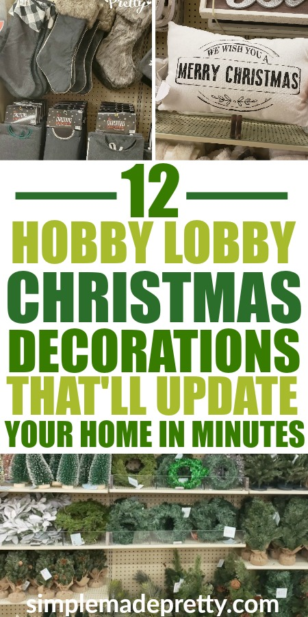 Update your Holiday Home decor in minutes with these must-have Christmas Decorations from Hobby Lobby! I share my favorite affordable Christmas decor items this year that you can order online now! Christmas decor ideas for the home, Christmas decor on a budget, Christmas decor 2018, Christmas buffalo plaid decor, simple Christmas decor #hobbylobbychristmas