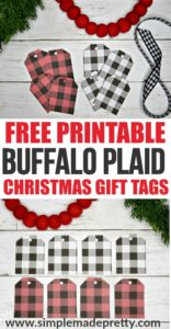 These Free Printable Christmas Gift Tags are funny, for kids, and for adults alike. Keep reading to grab the free printable Christmas gift tags template below and never be without a holiday gift tag again! These free online printable Christmas gift tags come in Red and Black Buffalo Plaid and Black and White Buffalo Plaid. Free printable holiday gift tags, printable gift tags