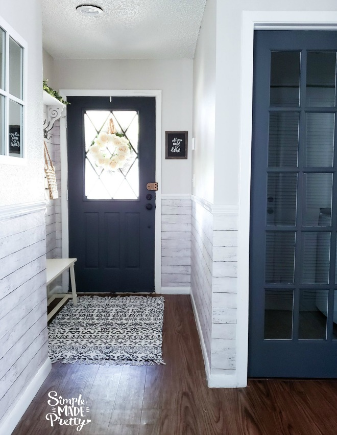 entryway update - small front entryway decorating ideas - simple made pretty