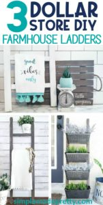 DIY Dollar Store Farmhouse Ladder, How To Make A Farmhouse Ladder, DIY Farmhouse Ladder, farmhouse ladder blanket, farmhouse ladder shelf, farmhouse ladder mudroom, farmhouse ladder ideas, farmhouse ladder on wall, farmhouse ladder living room, farmhouse ladder wire baskets, farmhouse ladder towel holders, farmhouse ladder DIY projects, farmhouse towel holders, how to make a tea towel ladder, farmhouse ladder decor, farmhouse decor