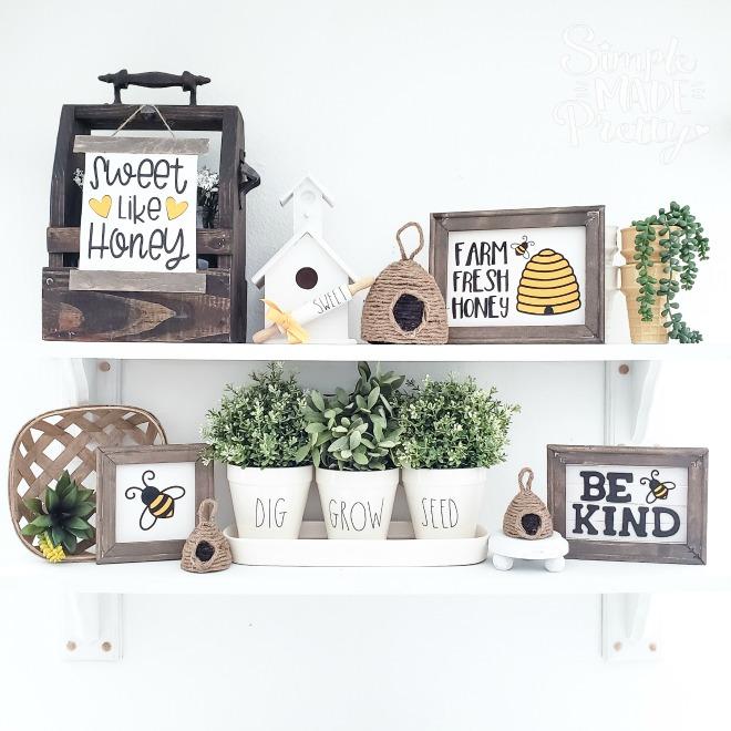 Dollar Store Honey Bee DIY Home Decor