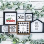 how to make a farmhouse sign DIY,  DIY Farmhouse decor dollar store, DIY Dollar Store Christmas Decor, DIY Dollar Store Crafts, Dollar store DIY decor, DIY Farmhouse sign, DIY farmhouse sign Cricut, DIY farmhouse sign tutorial, Farmhouse style signs, DIY Christmas decorations #dollarstorecrafts #diyfarmhousesigns #dollarstorechristmas