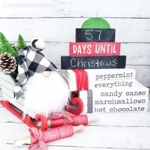 Christmas Countdown Sign Dollar Tree