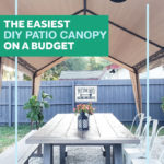 Easiest DIY Patio Canopy on a Budget