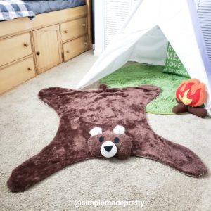 brown bear rug